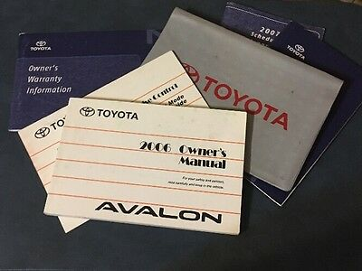 2006 toyota avalon owners manual with warranty guide and case rh picclick com Toyota Avalon Interior 2006 toyota avalon owners manual pdf