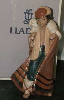 Lladro Gres Figurine MOUNTAIN SHEPHERD 2163 Mint in Box
