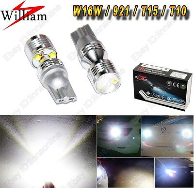 2 bulbs High Power Projector Cree 30W LED 921 W16W T15 T16 Back up Reverse Light
