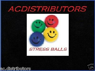 4 Happy Smiley Stress Foam Relief Squeeze Therapy Bouncy Hand Balls