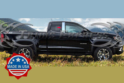 13-18 Chevy Colorado/Canyon Extended Cab 2Pc Pillar Post Trim Stainless Steel