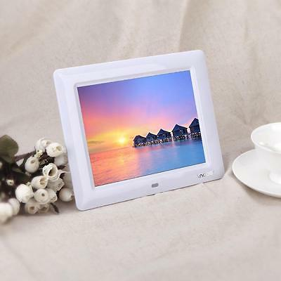 "White 7"" HD Digital Photo Frame Picture Clock MP3/4 Player With Remote Contorl"