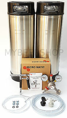 PLUTO BALL LOCK KEGGING KIT with MICROMATIC REGULATOR HOME BREW BEER KEG SYSTEM