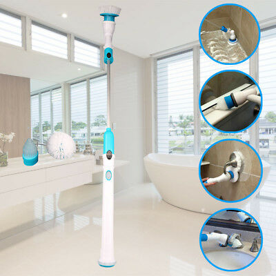 Cordless High Spin Rotating Head Handheld Cleaning Brush 360 Power Turbo Scrub