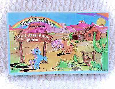 Vintage G1 My Little Pony Ranch Jigsaw Puzzle COMPLETE Hasbro Rare Original