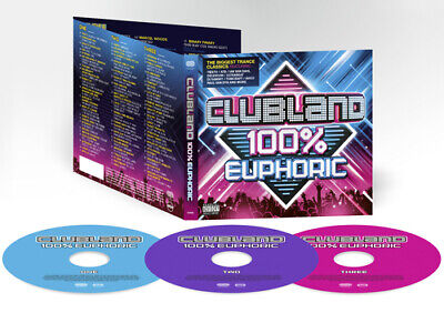 Various Artists : Clubland 100% Euphoric CD 3 discs (2016) Fast and FREE P & P