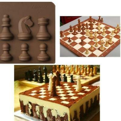 Silicone Chess Shaped Ice Chocolate Sugar Cake Mini Cube Tray Chess Mold HOT LG