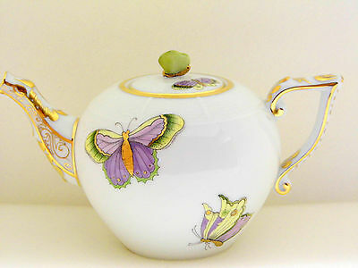 Herend Queen Victoria Royal Garden Miniature Teapot,brand New Boxed,evictp1
