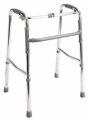 High strength aluminum one button folding zimmer walker walking frame
