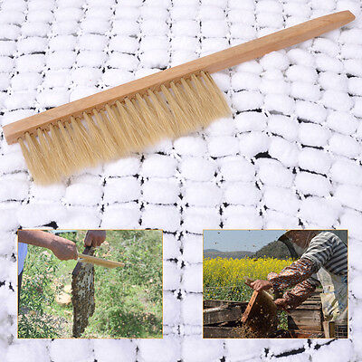 Natural Hot Sale Wooden Beekeeping Bee Brush Beekeepers Beehive Tool Equip