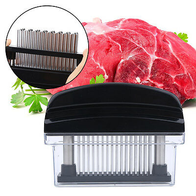 Pro Meat Tenderizer with 48 blade Stainless Steel Needle Prongs Kitchen Tool WD