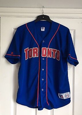 *VINTAGE* 90s Toronto Blue Jays MLB shirt / jersey by Russell Athletic, size M