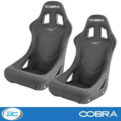 2 x Cobra Monaco Pro Grey FIA Track Race Rally Bucket Seats & Free Mounts!