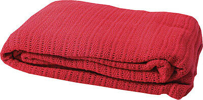 Paramedic Ambulance Medical Supply Warm Cellular First Aid Cotton Blanket Red