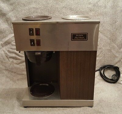 Commercial BUNN two burner VPR Pour-Omatic COFFEE maker Brewer refurb EUC