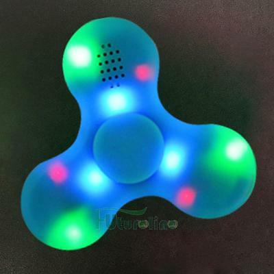Fidget mano de juguete LED de flash dedo Spinner Steel Bearing Spinners