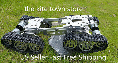 Enhanced suspension obstacle crosses the crawler robot tank chassis DIY Arduino