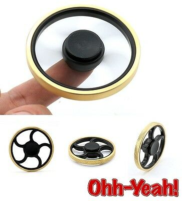 Smooth Round Fidget Hand Spinner Torqbar Brass Finger Toy EDC Focus Gyro ADHD