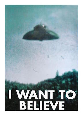 Akte X Files Poster I WANT TO BELIEVE Fox Mulder Office Büro UFO Picture Bild