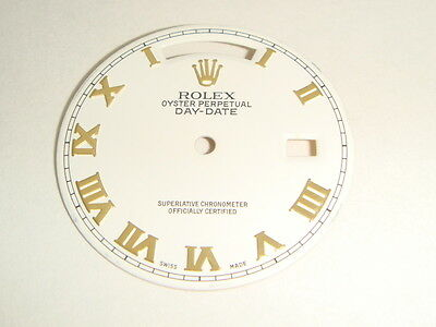 Rolex Dial Daydate 18038 / 18238 Gold White Watch Parts Day-Date