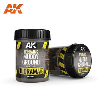 AK Interactive 8017 - TERRAINS MUDDY GROUND - Boden - 250 ML (4,20 € / 100 ml)