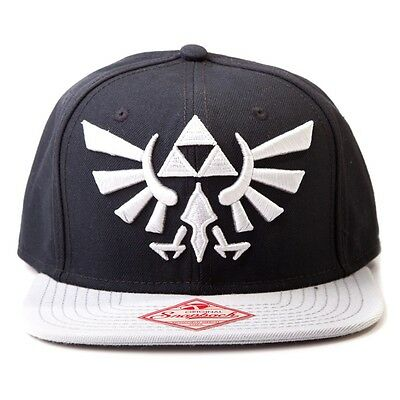 Official Legend of Zelda Black Snapback Trucker Baseball Hat - Nintendo Cap Logo