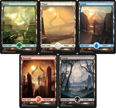 MTG 100 Amonkhet Full Art Basic Lands [20 of each colour, Free P&P]