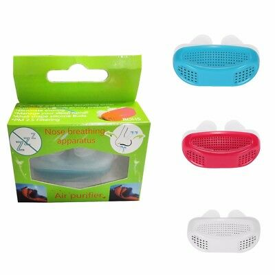 Anti Snoring Relieve Care Silicone Snore Stopper Nose Breathing Sleep Aid Device