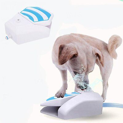 Outdoor Garden Water Drinking Fountain Dog Cooler Press Step AFP Paw Operated