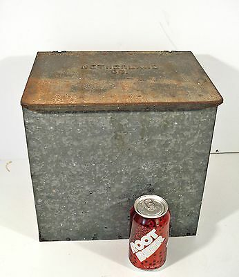 Vintage Netherland Co Dairy Galvanized Cumberland Case Milk Porch Box Cooler