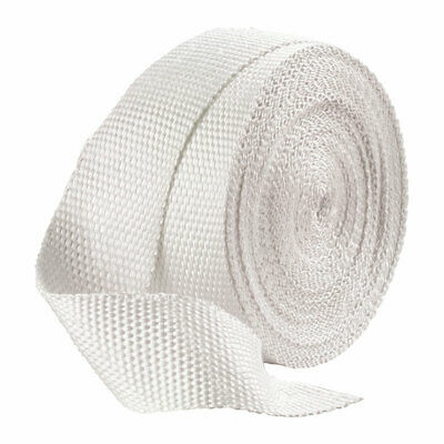 Motorcycle/Bike/Car Exhaust Pipe Heat Wrap - White - 1 Inch Width - 50ft Length