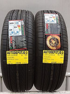 225/60R18 FEDERAL FORMOZA FD2 100H Part worn tyres x2 (C1040A&B) AS NEW