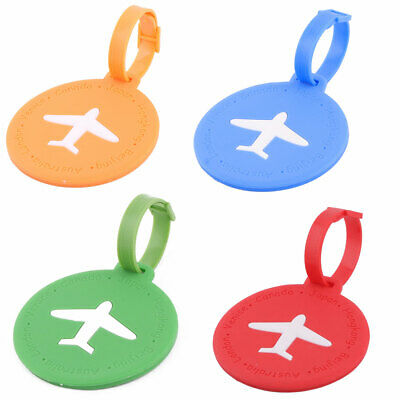 Silicone Round Shape Travel Suitcase Label Luggage Tag Name Address Card Holder