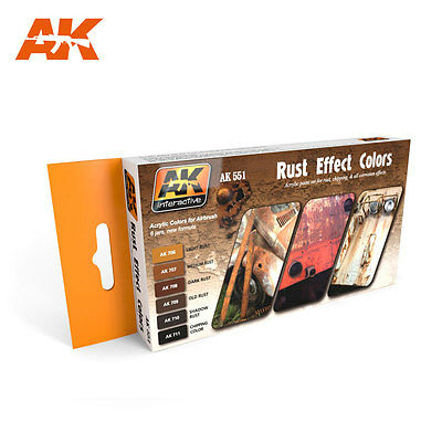 AK Interactive 551 - RUST EFFECT COLORS - Rost - 6x 17 ML (14,51 € / 100 ml)