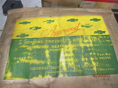 NOS CHEVROLET 1942 to 1946 PASSENGER DEFROSTER KIT IN GM ACCESSORY BOX