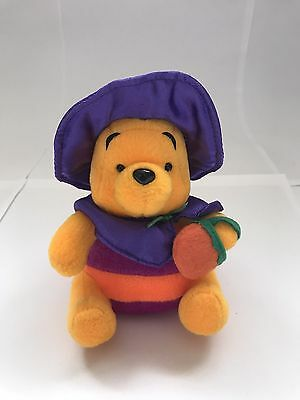"""Bnwt Rare Disney Store Winnie The Pooh In Witch Costume Collectable 6"""""""