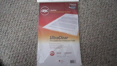 GBC Laminating Pouches / Sheets Thermal Legal Size 3 mil Heat-Seal Ultra Clear