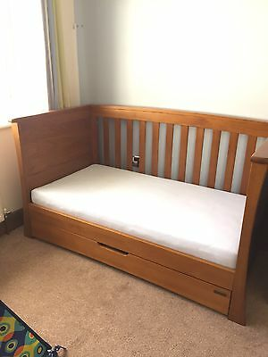 Mamas & Papas Cotbed, Wardrobe, Chest Of Drawers And Shelf (Ocean Oak)