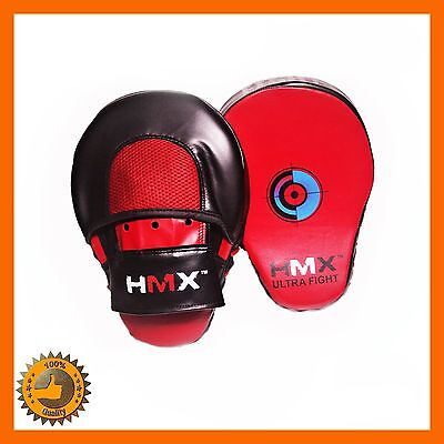 Focus Pads Mitts Pad Curved Gloves Trainer Tractise Boxing Kickboxing Strike Mma