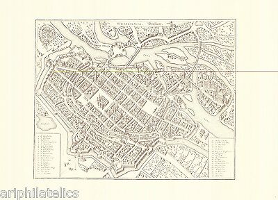 "GERMANY - Old Engraved Reprint City Map Of ""BRESLAU"" Certified !!"