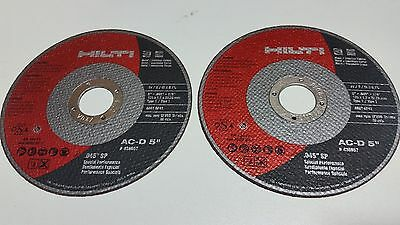 "(10)  Hilti  Abrasive 5"" Blade Ac-D, 5 Inch Disc #436657 Cut Off Wheel"