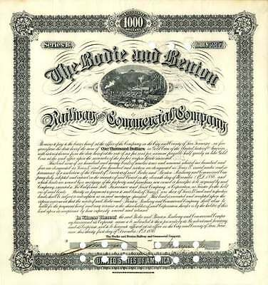Bodie and Benton Railway and Commercial Company signed by Henry Marvin Yerington