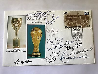 1966 World Cup Squad Bobby moore Signed First Day Cover