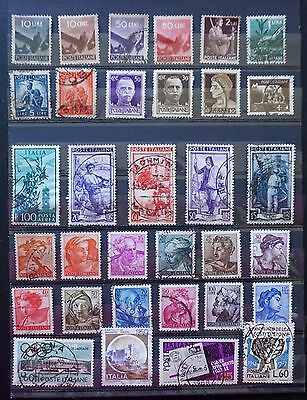 ITALY    Mixed LOT of 33 different OLD  Stamps   Used  Lot #3