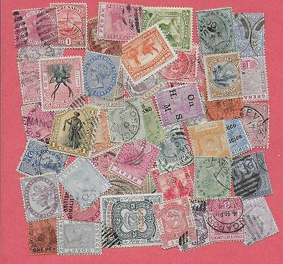 50 Queen Different Queen Victoria Commonwealth Stamps With Some G.b.