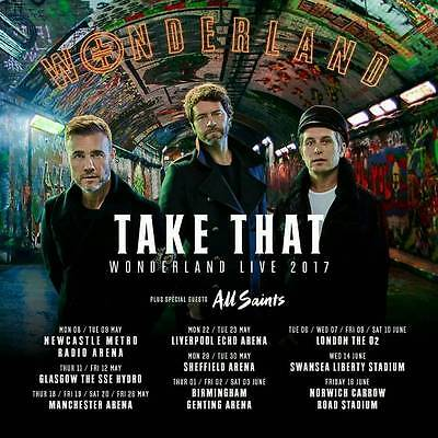 Take That Wonderland Live 2017 Acrylic Fridge Magnet Exclusive New Fan Souvenir