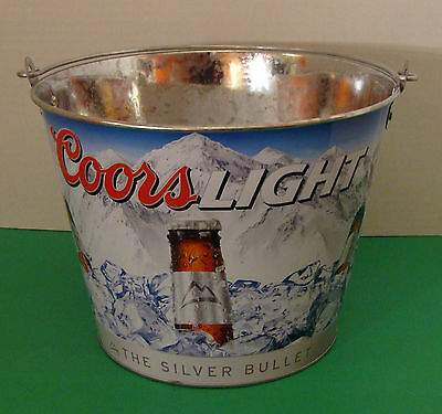 Coors Light The Silver Bullet 5Qt. Ice Metal Bucket New