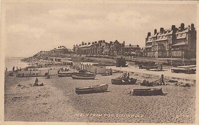 SOUTHWOLD ( Suffolk) : Beach from Pier -VALENTINE'S