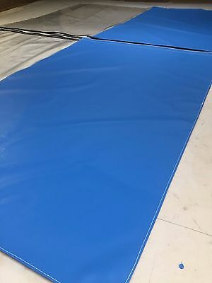 Blue And Clear Top Car Body Spraying Booth  Curtains  20Ft X 8Ft And Fixing Kit