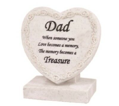Memorial/Grave Heart ~ CremationMarker/Plaque ~ DAD